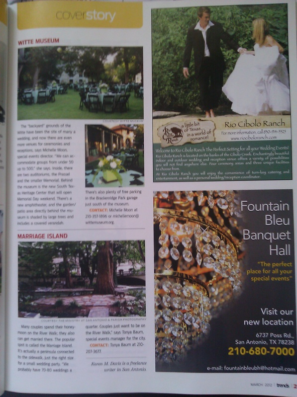 Page 21 of March 2012 Trends Magazine featuring Marriage Island